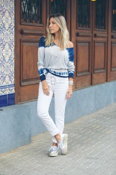 Meu Look: Denim on Denim Adidas Stan Smith, Estilo Jeans, Casual Looks, White Jeans, Ideias Fashion, How To Look Better, Street Style, My Style, Outfits