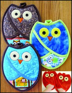 Who Owl Pot Holders Pattern - Susie C Shore Designs, Retail Pattern