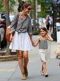 Mommy/Daughter Style: Katie Holmes & Suri Cruise