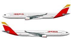 Nueva #imagen de #marca de @Iberia Líneas Aéreas Líneas Aéreas en sus nuevos aviones.