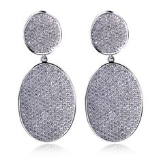 Earrings for girl luxury drop Earring copper material w/ Rhodium plated and AAA CZ stone fashion jewelry free shipment