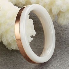 60 Unbelievable Ceramic Wedding Bands for Him & Her ... -min-order-10-White-Ceramic-Rose-Gold-Plated-font-b-Ring-b-font-Unisex-Men └▶ └▶ http://www.pouted.com/?p=32875