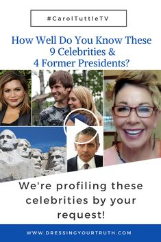 Test your Energy Profiling skills! How many did you get right?  Celebrity Profiling! You asked to learn a bit more about these public figures, so now you get to Type them with me!  Learn more about your Energy Profile with the Free Before & After Course dressingyourtruth.com/freeoffer   #energyprofilingwithcarol #caroltuttletv #dressingyourtruth #celebrityprofiling #presidentprofiling