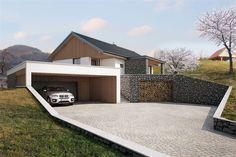 Delno vkopana garaža in nadstrešek - Architektur - Awesome Garden Ideas Building Design, Building A House, Warren House, Hillside House, Dream House Exterior, Facade House, Interior Exterior, Modern House Design, Modern Architecture