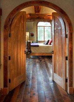 Beautiful arched doorways for my Dream Cabin Home!