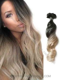 Black to Blonde Loose Wave Ombre Hair Extension