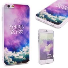 YOUNG, WILD & FREE - Urcover® Semi Softcase Hülle   Apple iPhone 6 Plus / 6s Plus   TPU Muster Young Wild & Free   Kamera-Schutz   Handyhülle   Cover Backcase Handyschutz Wiz Khalifa Snoop Dogg Young, Wild & Free Lyrics 7,90€