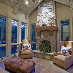 1000 images about fireplace on pinterest fireplace for Fireplace with windows on each side