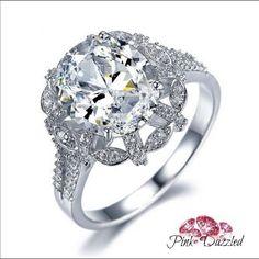 Luxury Oval Cut Cz Flawless Ring