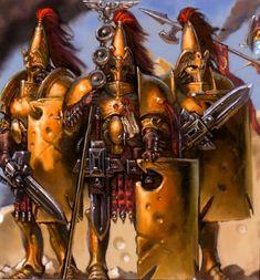 Members of the Legio Custodes, the precursor to the Adeptus Custodes, during the Great Crusade