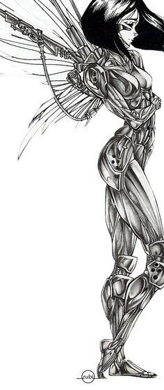 battle angel alita by rubitutubi.deviantart.com on @DeviantArt