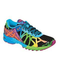 This Black & Neon Coral GEL-Noosa Tri 9 Running Shoe - Women is perfect! #zulilyfinds