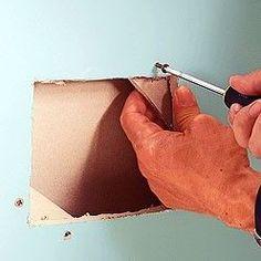 Fabriquer un appui pour boucher un trou dans une plaque de plâtre