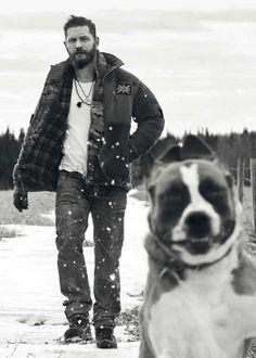 Tomy Brady and doggie
