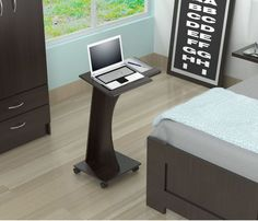 Podium Stands Rolling Laptop Stand Bed Sofa Computer Cart Pulpit Portable Desk  #InvalAmericaLLC