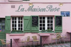 Maison Rose in Montmartre