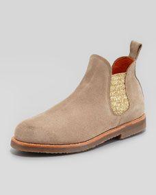 cac2faeaca1e86 Penelope Chilvers Safari Metallic-Gore Suede Boot