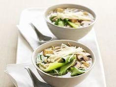 Pak Choy-Suppe mit Pilzen #Rezept