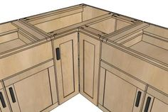 "36"" Corner Base Easy Reach Kitchen Cabinet - Basic Model - Tutorial DIY w/ complete instructions/measurements"