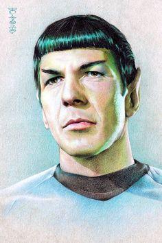 Mr. Spock (Leonard Nimoy) by Lei-Feiyang.deviantart.com on @deviantART