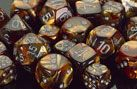 Chessex Dice: Polyhedral Lustrous Dice Set - Gold w/silver Pin Pics, Nespresso, Colours, Green Colors, Dice, Bronze, Silver, Gold, Gaming