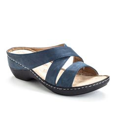 Look what I found on #zulily! Navy Confident Sandal by Henry Ferrera #zulilyfinds