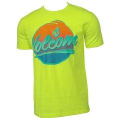 Volcom Mens Shirt Chray Yellow Glow