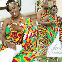 Ghana Traditional Wedding, Traditional Wedding Dresses, Traditional Outfits, African Wear, African Women, African Dress, African Style, Ghana Wedding Dress, African Wedding Dress