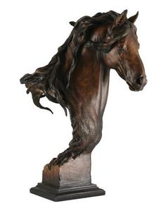 "This evocative ""Equus Onyx"" Small #Horse Sculpture from artist Arich Harrison's features the popular war horse bust design in a smaller size perfect for the desk, end table or shelf. $37.00"