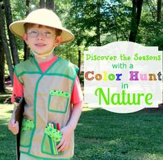 Colors of Nature Color Hunt + Printable *Perfect fall activity for kids