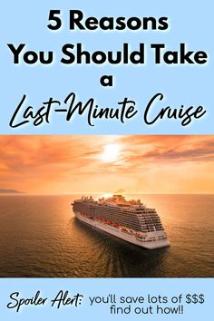Last minute cruises can be amazing vacations, and provide incredible value for their price! Learn 5 reasons why you should take a last minute cruise in Learn how to save money on a cruise by t Packing List For Cruise, Cruise Tips, Cruise Travel, Cruise Vacation, Solo Travel, Vacation Trips, Vacations, Cruise Destinations, Amazing Destinations