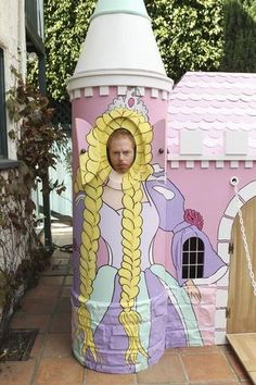 Modern Family-Mitchell stuck in the princess play castle.