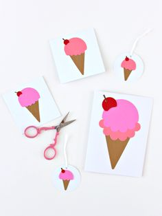 Paper Art, Paper Crafts, Craft Shop, Craft Projects, Ice Cream, Fun, Cards, Gifts, Envelopes