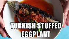 Karniyarik is a classic Turkish stuffed eggplant recipe. Delicious eggplants are stuffed with a tasty ground beef, pepper and tomatoes filling and are baked to perfection. More from my siteStuffed Eggplant Parmesan Healthy Menu, Healthy Salad Recipes, Diet Recipes, Scottish Recipes, Turkish Recipes, Ethnic Recipes, Romanian Recipes, Turkish Salad, Aubergine Recipe