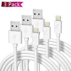 Lightning USB Cord For iPhone 6s6 7 8 X XS iPad Data Sync Charger Cable  6X pacK