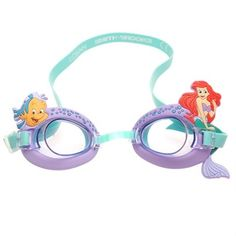 39ff3c447ee Nzsale - 3D Childrens Swimming Goggles Disney Little Mermaids