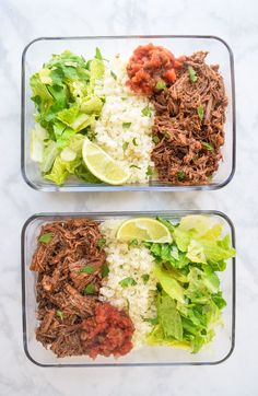 Chipotle Beef Bowls Paleo) - lunch has never been tastier with these meal prep chipotle beef bowls! Just like your favorite Mexican takeout and complaint! Paleo Meal Prep, Lunch Meal Prep, Meal Prep Bowls, Paleo Dinner, Keto Meal, Easy Paleo Meals, Paleo Whole 30, Whole 30 Recipes, Lunch Recipes
