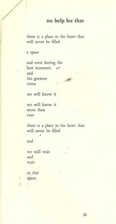 No Help For That - Bukowski