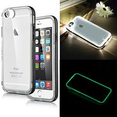 iPhone 6 Case, ULAK [Lumenair Series] LED Case iPhone 6 (4.7) Incoming Call Flash Hybrid Case Cover with (Transparent+Black) PC Hard Back Case + Luminous Soft Bumper Frame Case For iPhone 6 (4.7 inch) (Gray) http://www.amazon.com/dp/B00RG7Z1MC