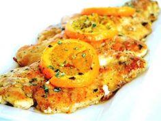 Voňavá kuřecí prsíčka s pomerančem,parmazánem a bazalkou.