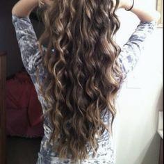 Long curly hair(: