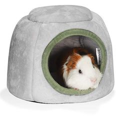 EONMIR Guinea Pig House, Hamster Hedgehog Winter Nest, Small Animals Warm Cage Cave Bed - A-Gray