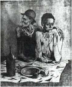 Fig. 81: Le repas frugal (eau-forte) 376 x 462