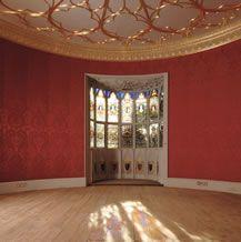 Strawberry Hill, Twickenham - Horace Walpole's Gothic Revival House, author of The Castle of Otranto Gothic Revival Architecture, Georgian Architecture, Architecture Details, The Castle Of Otranto, Strawberry Hill House, Gothic Castle, Roof Ceiling, Simple Interior, Interior Design