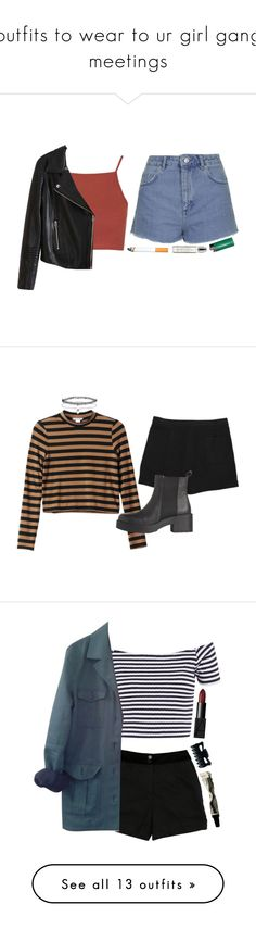 """""""outfits to wear to ur girl gang meetings"""" by ripped-denim-jeans ❤ liked on Polyvore featuring Topshop, Forum, Byredo, women's clothing, women's fashion, women, female, woman, misses and juniors"""
