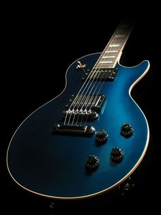 Blue Gibson Custom Les Paul #gibson #guitar