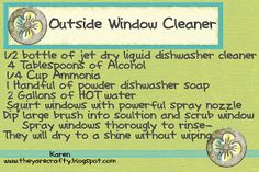 They Are Crafty: Washing outside windows
