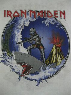 Great Iron Maiden shirt or greatest Iron Maiden shirt? Heavy Metal Rock, Heavy Metal Music, Heavy Metal Bands, Iron Maiden Band, Iron Maiden Shirt, Iron Maiden Posters, Eddie The Head, Beer Magazine, Hawaii Tours