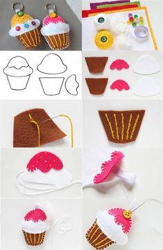 Easy DIY Felt Crafts, Felt Crafts Patterns and Felt Craft Tutorial Pdf. Felt Crafts Patterns, Felt Crafts Diy, Felt Diy, Crafts To Make, Fabric Crafts, Sewing Crafts, Crafts For Kids, Cute Crafts, Handmade Crafts