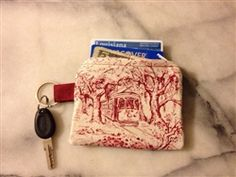 New Orleans toile credit card holder.